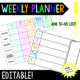 Weekly Lesson Planner Agenda