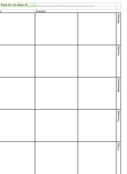 Weekly Lesson Planner (Block Planner in Excel)