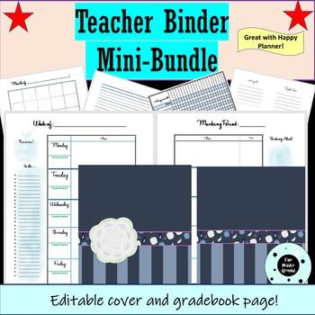 Teacher Binder - Teacher Planner - Happy Planner or Disc Planner Mini-Bundle