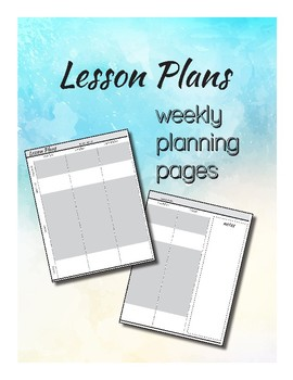 Weekly Lesson Planner Template (Secondary)
