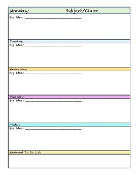 Weekly Lesson Planner and Budget Planner for teachers