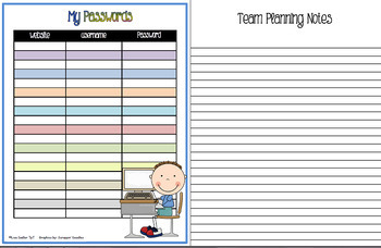 Lesson Planner FULLY EDITABLE with Extras (Weekly)