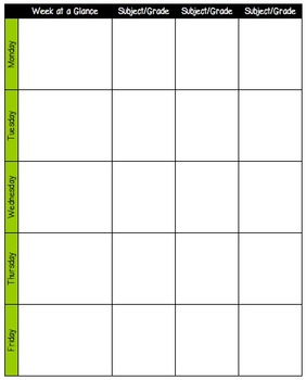 Weekly Lesson Plans