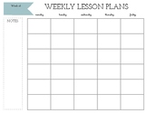 Weekly Lesson Plans Template