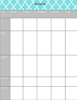 Weekly Lessons Template in Chevron Theme