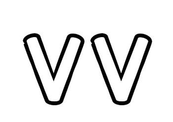 Weekly Letter Craft - V