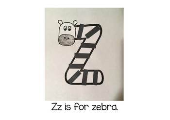 Weekly Letter Craft - Z