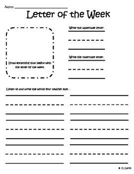 Weekly Letter and Blending Assessment