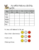 Weekly Literacy Checklist and Self-Assessment