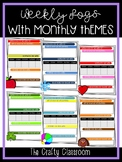 Weekly Log Templates with Monthly Themes