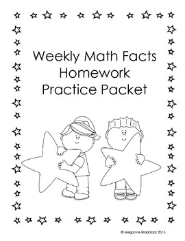 Weekly Math Facts Practice