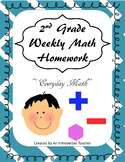 Weekly Math Homework~ 2nd Grade