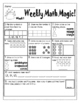 Weekly Math Homework/Morning Work for First Grade-First Qu
