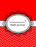 Weekly -Math Journal - Common Core - EDITABLE - Calendar-