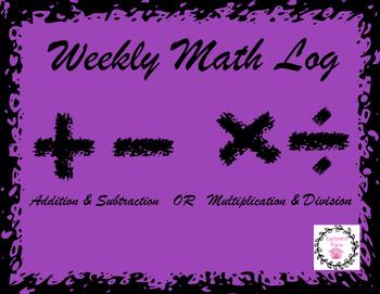 Weekly Math Log