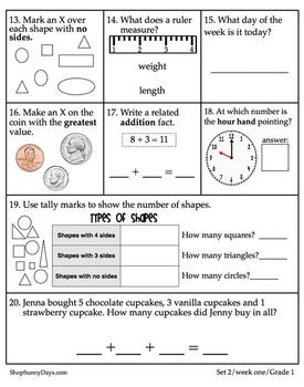 First Grade CCSS Math Magic {Set Four}