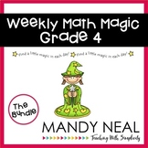 Weekly Math Magic - Fourth Grade Bundle, Sets 1-4 (CCSS aligned)