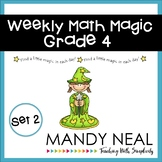 Weekly Math Magic - Fourth Grade, Set 2 (CCSS aligned)