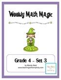 Weekly Math Magic - Fourth Grade, Set 3 (CCSS aligned)