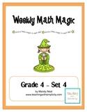 Weekly Math Magic - Fourth Grade, Set 4 (CCSS aligned)