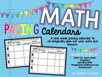 Weekly Math Pacing Chart