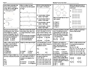 Weekly Math Practice 1