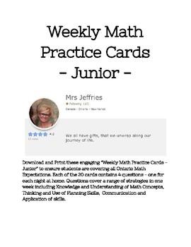 Weekly Math Practice - Junior