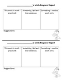 Weekly Math & Reading Progress Report