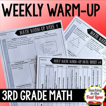 Weekly Math Review 3rd Grade