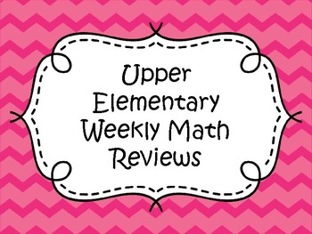 Weekly Math Review (4th-6th)