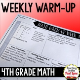 Weekly Math Review 4th Grade