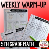 Weekly Math Review 5th Grade