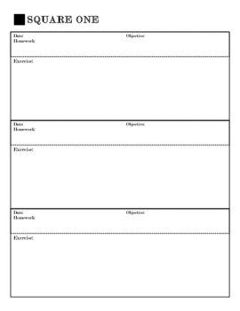 Weekly Math Warm-Up Sheet Organizational Aid