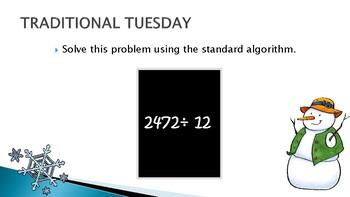 Weekly Math Warm-up: January