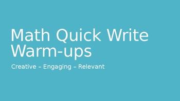 Weekly Math Warm-ups and Quick Writes