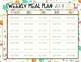 Weekly Meal Plan Editable Template