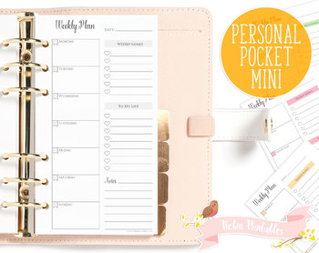 Weekly Meal Plan Printable Planner Insert