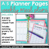 Weekly Meal Planner (A5 size)