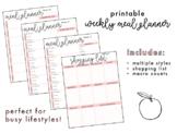 Printable | Weekly Meal Plan & Grocery List