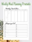 Weekly Meal Planning Printable