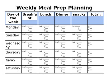 Weekly Meal Planning Schedule