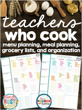 Weekly Meal Planning and Grocery Shopping Lists {Freebie}