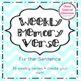 Weekly Memory Verse Fix-the-Sentence