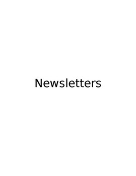 Weekly/Monthly Newsletter
