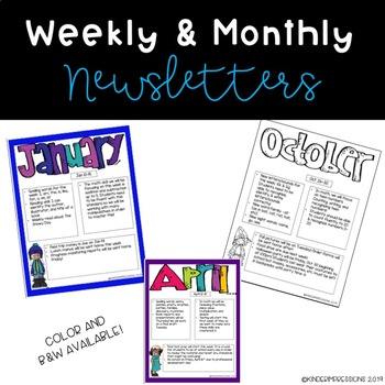 Weekly/Monthly Newsletters