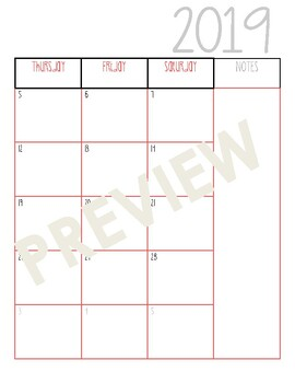 Weekly/Monthly Plan Book