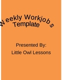 Weekly Morning Work Template