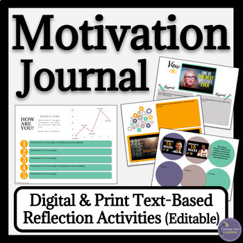 Growth Mindset Digital Notebook Text Based Writing Prompts for Google Drive