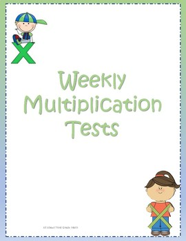 Weekly Multiplication Assessments and Trackers