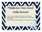 Weekly Multiplication Choice Board